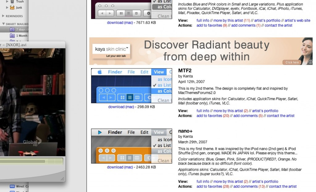 The website deals with Shapeshifter Skins for Mac OSX, the advertisement deals in actual Skin products. Probably time internet advertising started differentiating both.